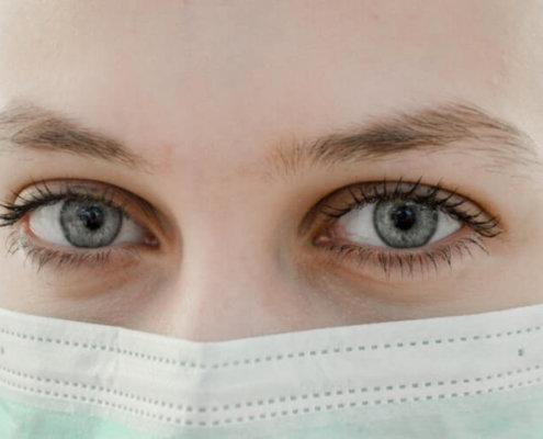 maska za prepričevanje širjenja okužbe