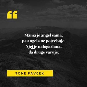 Pesem Angel za mame, objavljena v zbirki Angeli